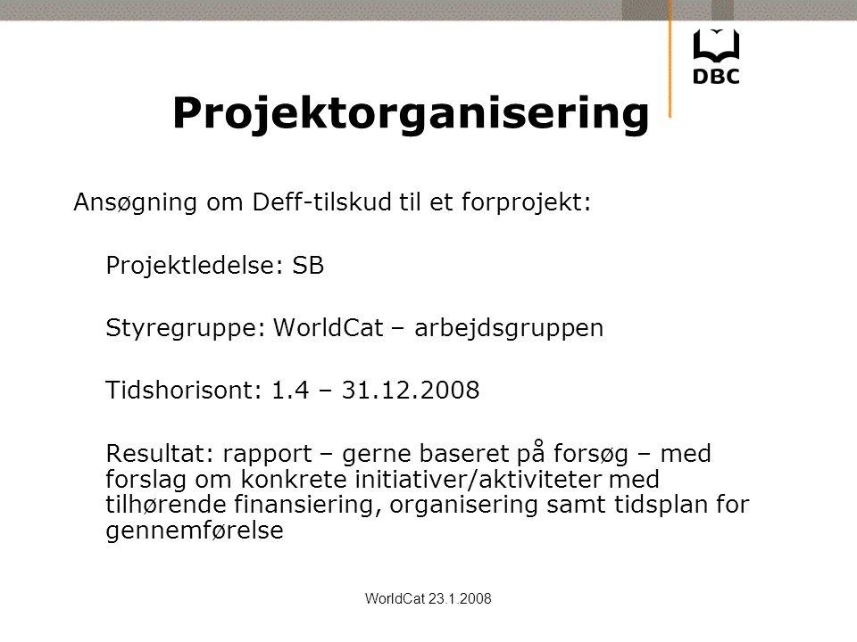 Projektorganisering Ansøgning om Deff-tilskud til et forprojekt: