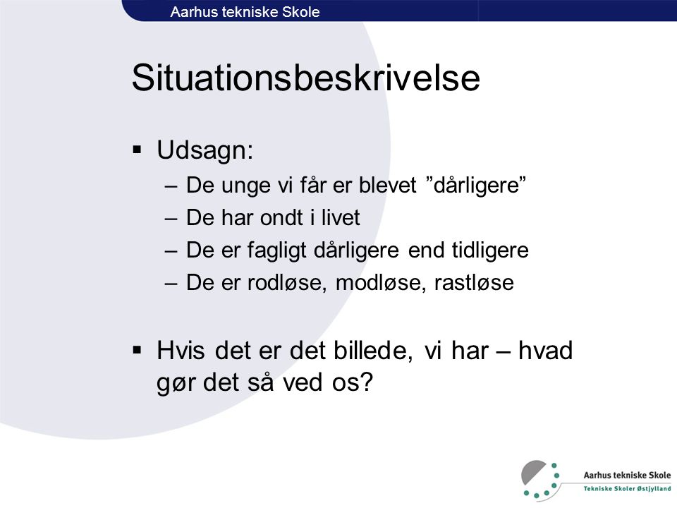Situationsbeskrivelse