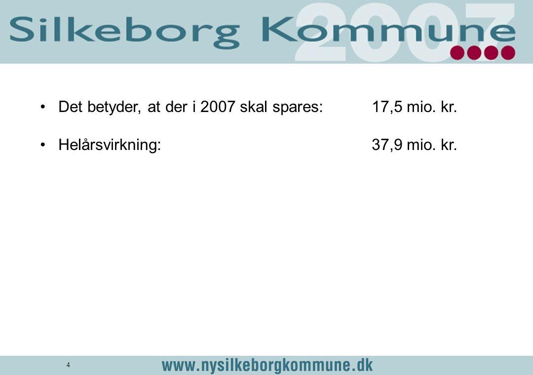 Det betyder, at der i 2007 skal spares: 17,5 mio. kr.
