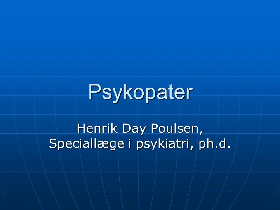 Henrik Day Poulsen, Speciallæge i psykiatri, ph.d.