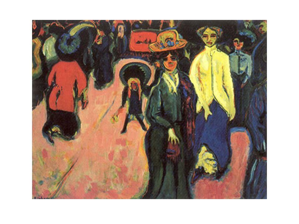 Ernst Ludwig Kirchner, Street, Dresden, 1908.