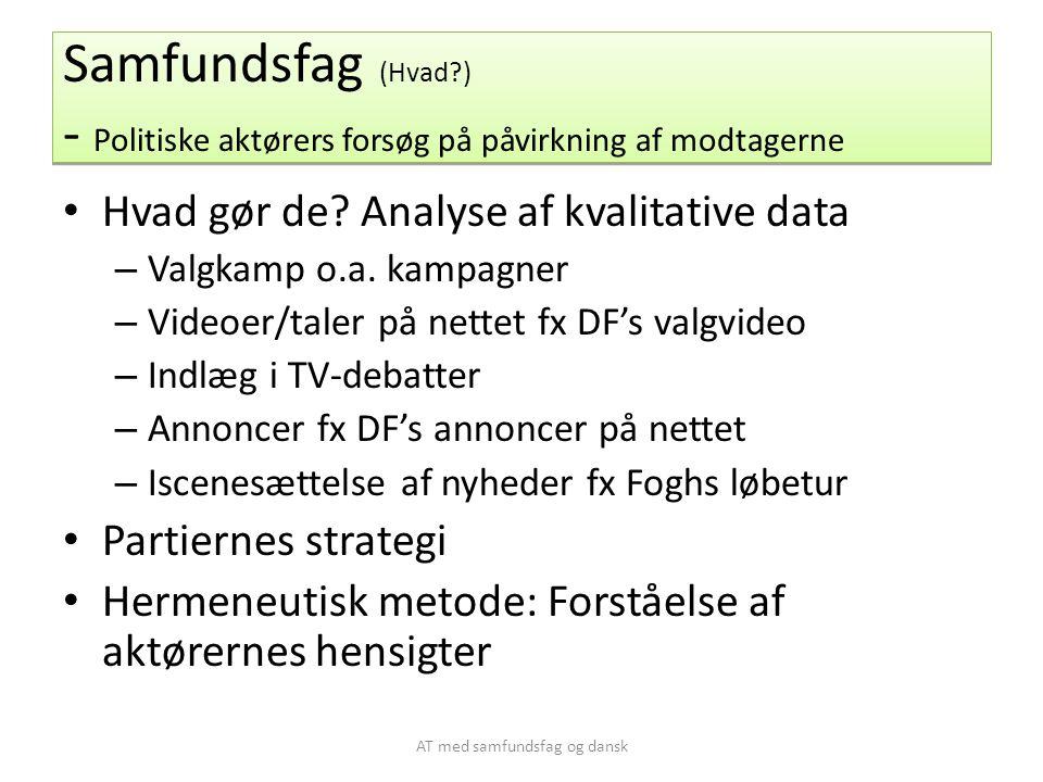 AT med samfundsfag og dansk