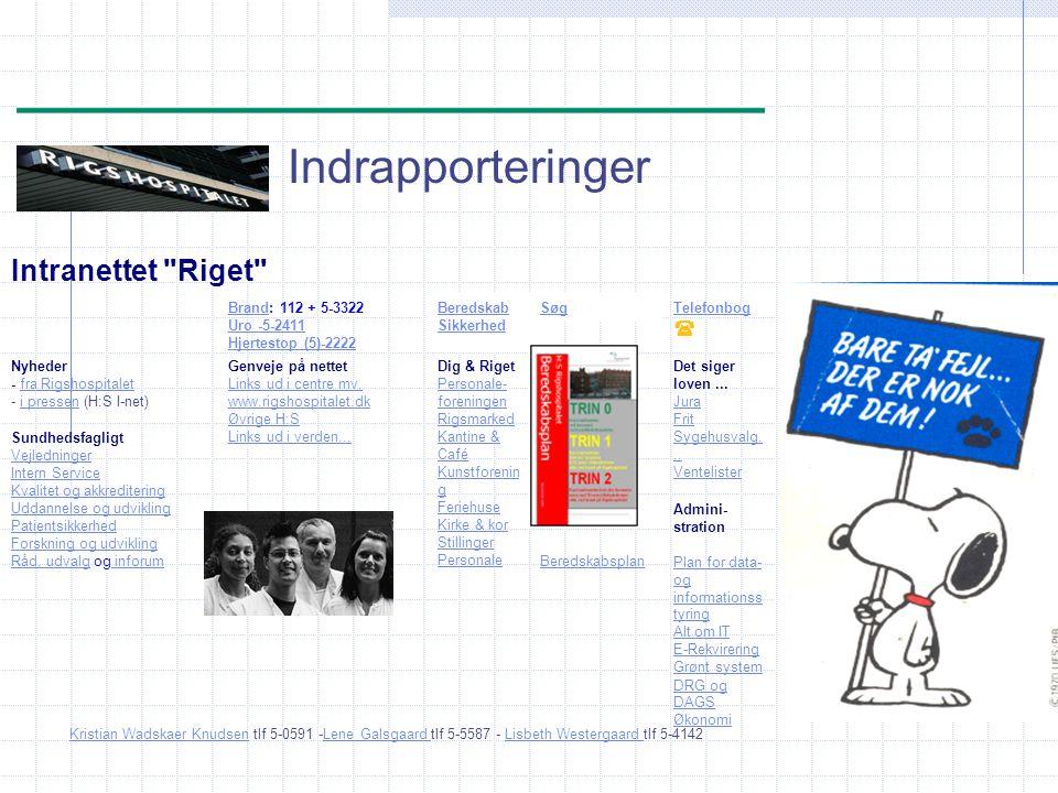 Indrapporteringer Intranettet Riget Brand: 112 + 5-3322 Uro -5-2411 Hjertestop (5)-2222.
