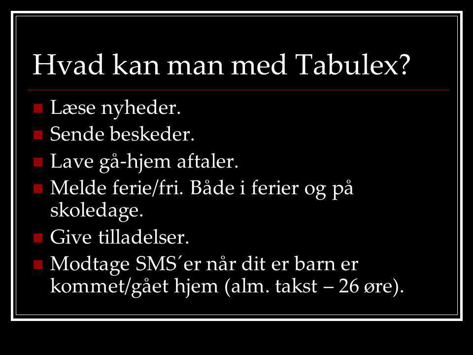Hvad kan man med Tabulex