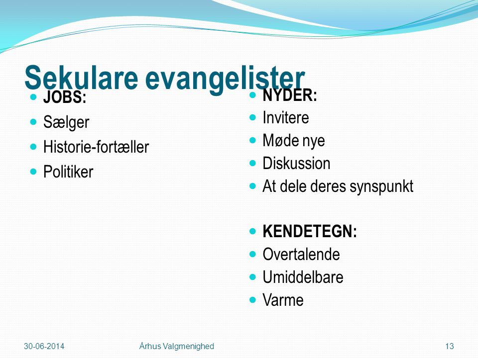 Sekulare evangelister