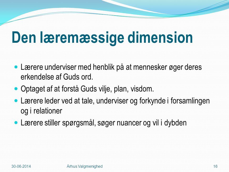 Den læremæssige dimension