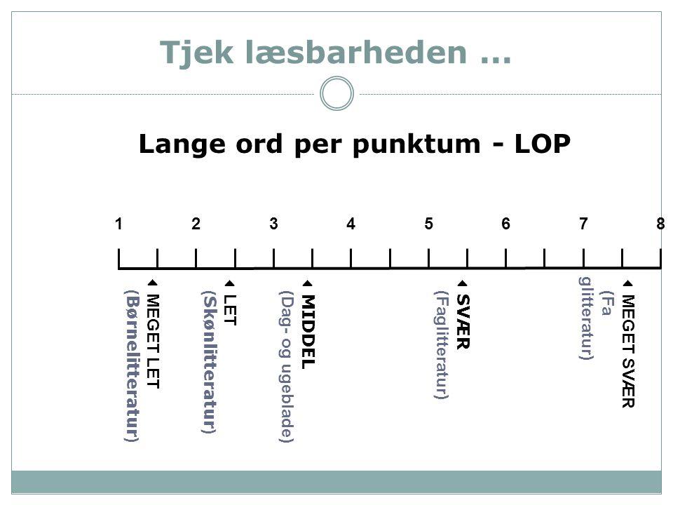 Lange ord per punktum - LOP