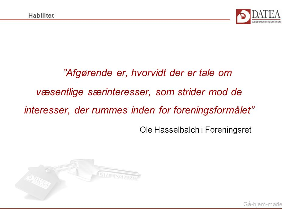 Ole Hasselbalch i Foreningsret