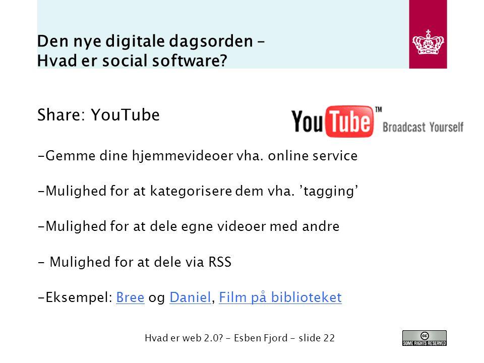 Den nye digitale dagsorden – Hvad er social software