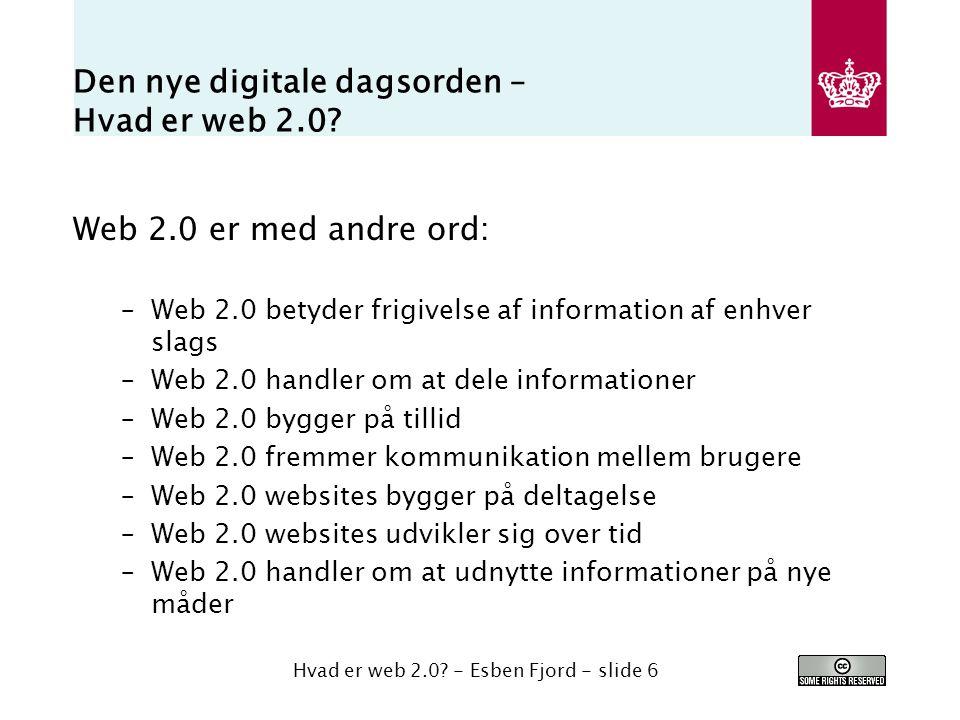Den nye digitale dagsorden – Hvad er web 2.0