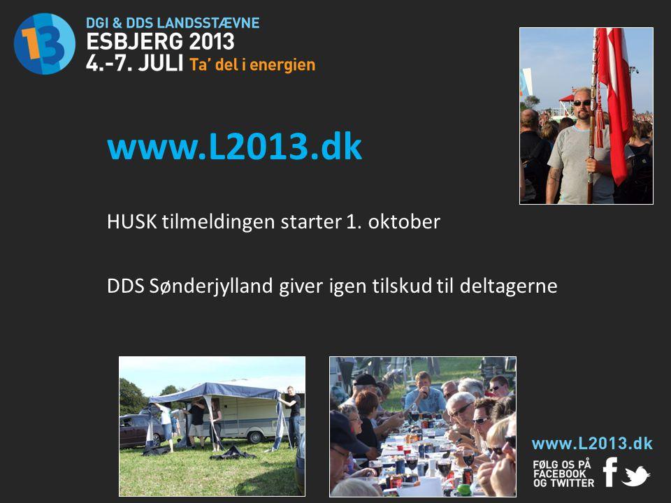 www.L2013.dk HUSK tilmeldingen starter 1. oktober
