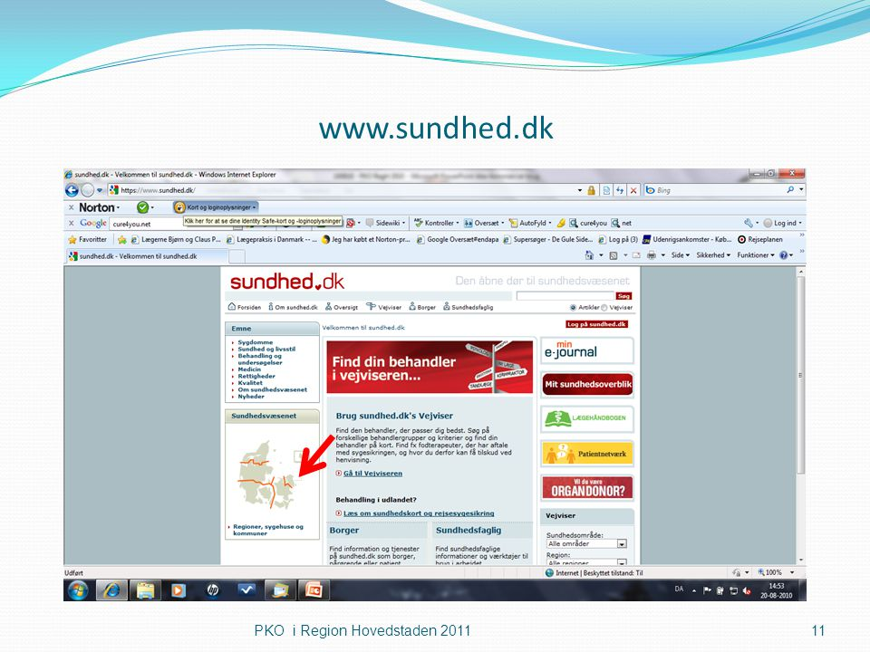 www.sundhed.dk PKO i Region Hovedstaden 2011