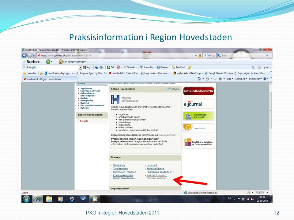 Praksisinformation i Region Hovedstaden