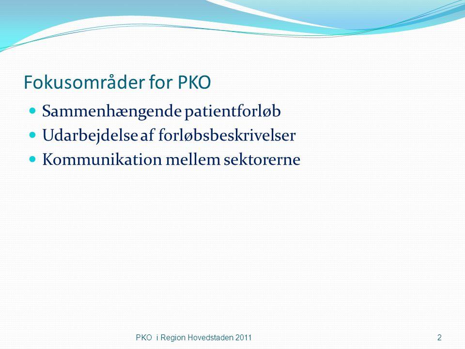 Fokusområder for PKO Sammenhængende patientforløb