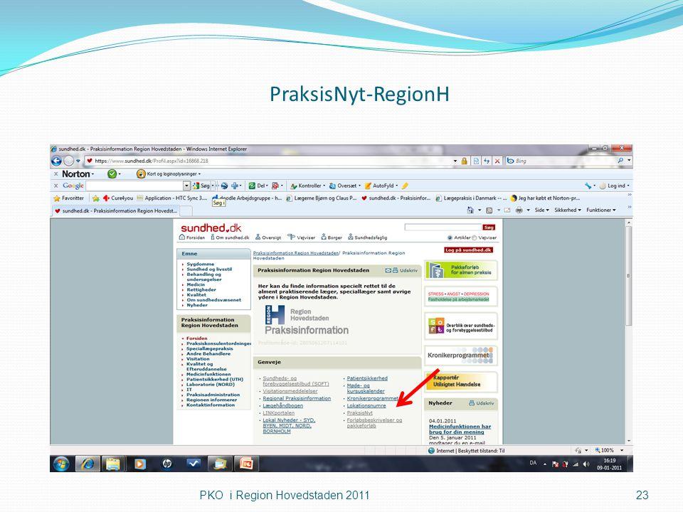 PraksisNyt-RegionH PKO i Region Hovedstaden 2011