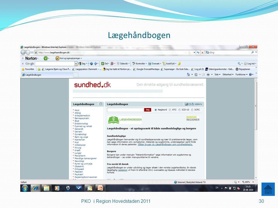 Lægehåndbogen PKO i Region Hovedstaden 2011