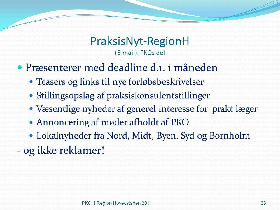 PraksisNyt-RegionH (E-mail). PKOs del