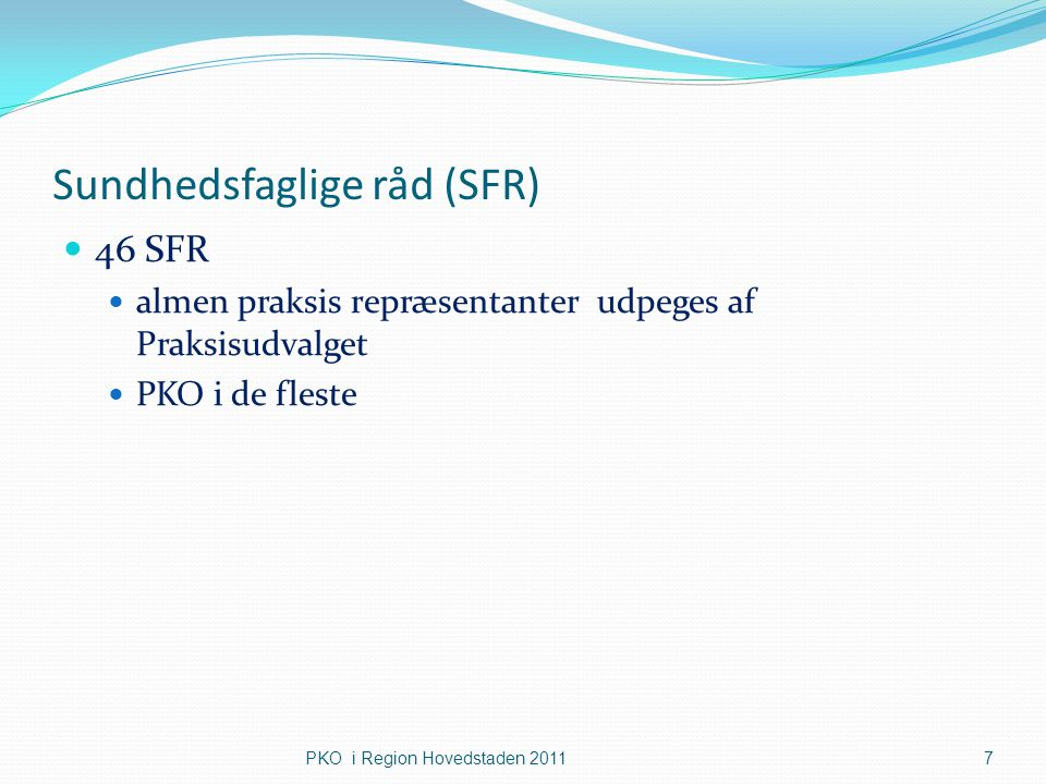 Sundhedsfaglige råd (SFR)