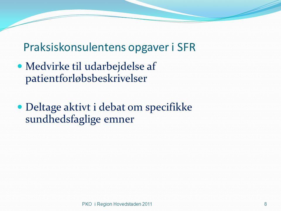 Praksiskonsulentens opgaver i SFR