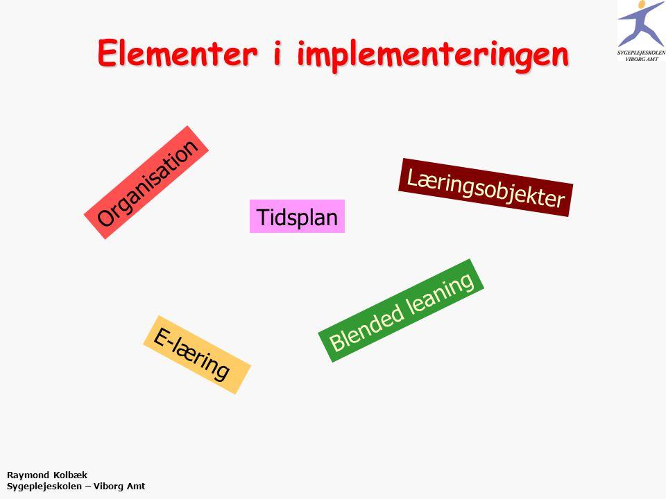 Elementer i implementeringen