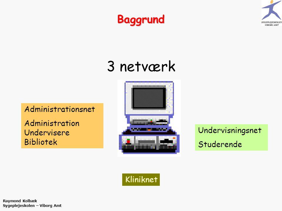 3 netværk Baggrund Administrationsnet