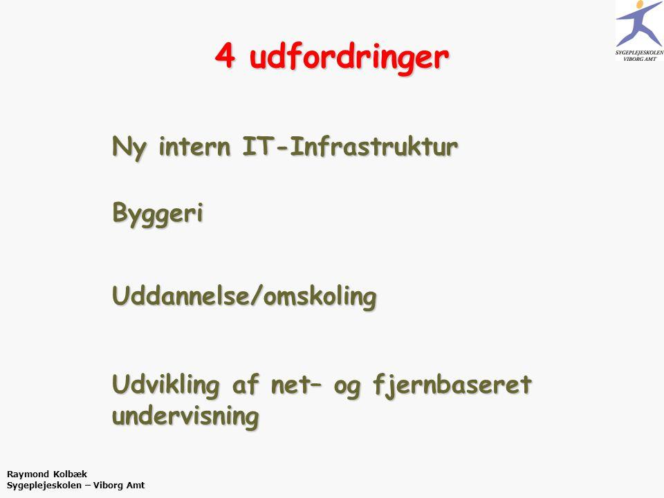 4 udfordringer Ny intern IT-Infrastruktur Byggeri Uddannelse/omskoling