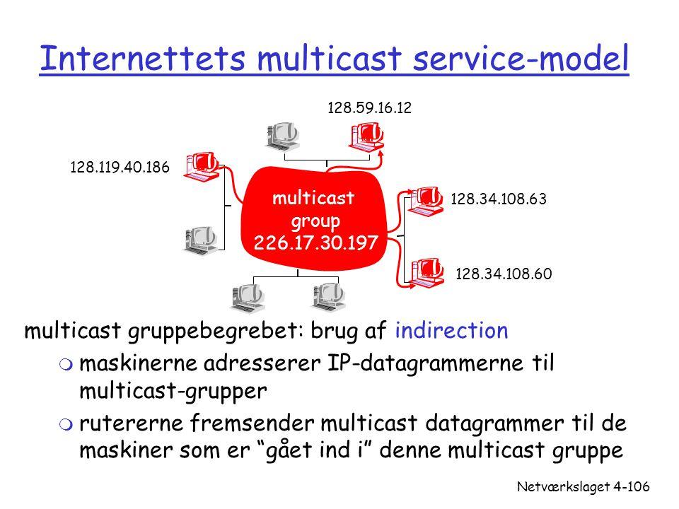 Internettets multicast service-model