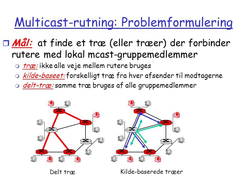 Multicast-rutning: Problemformulering