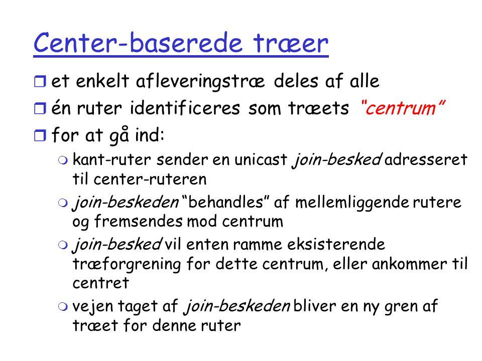 Center-baserede træer