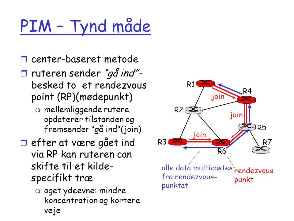 PIM – Tynd måde center-baseret metode