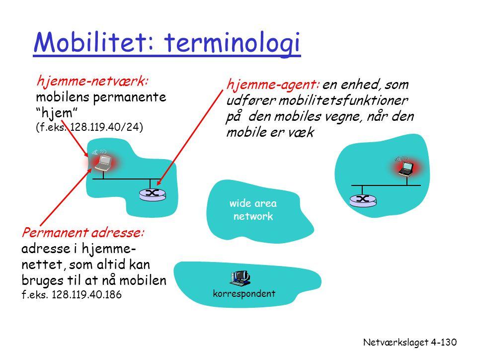 Mobilitet: terminologi