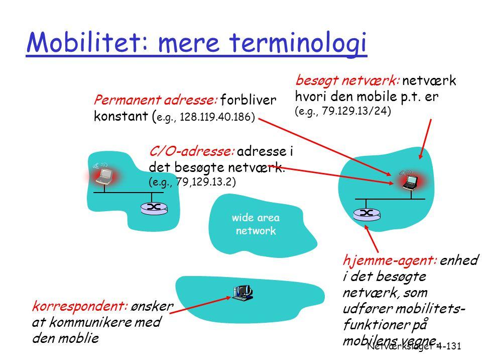 Mobilitet: mere terminologi