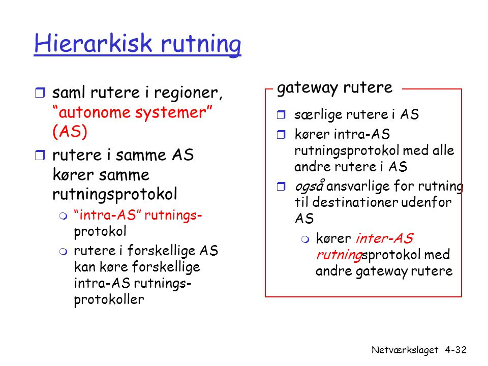 Hierarkisk rutning gateway rutere