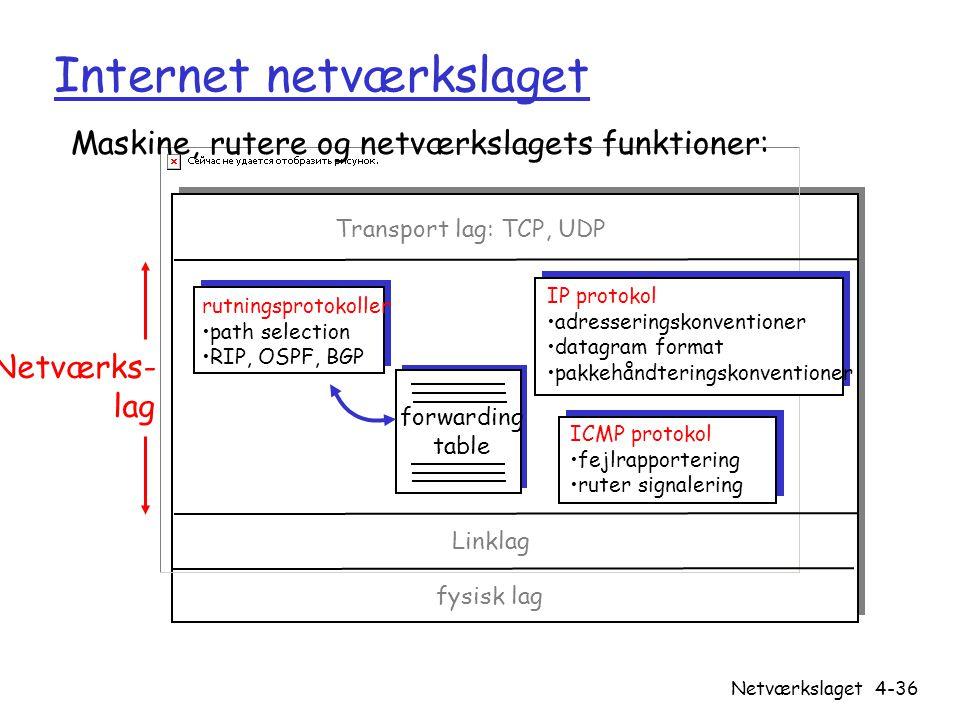 Internet netværkslaget