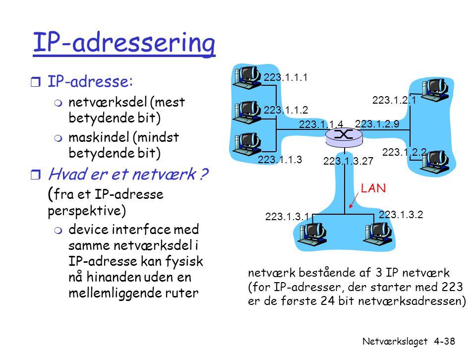 IP-adressering IP-adresse: