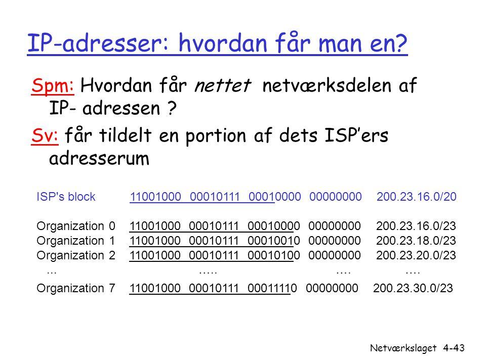 IP-adresser: hvordan får man en