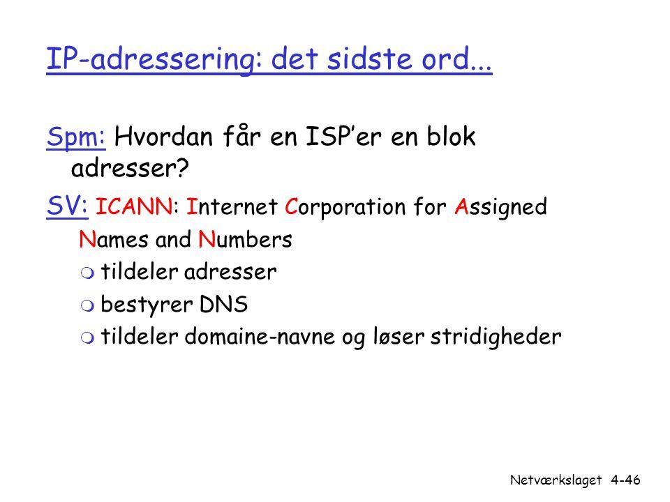 IP-adressering: det sidste ord...