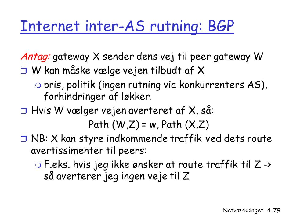 Internet inter-AS rutning: BGP