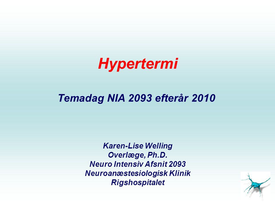Neuroanæstesiologisk Klinik