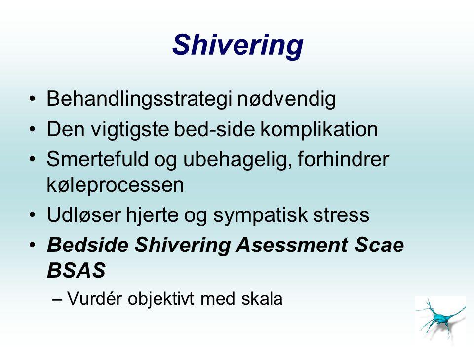 Shivering Behandlingsstrategi nødvendig