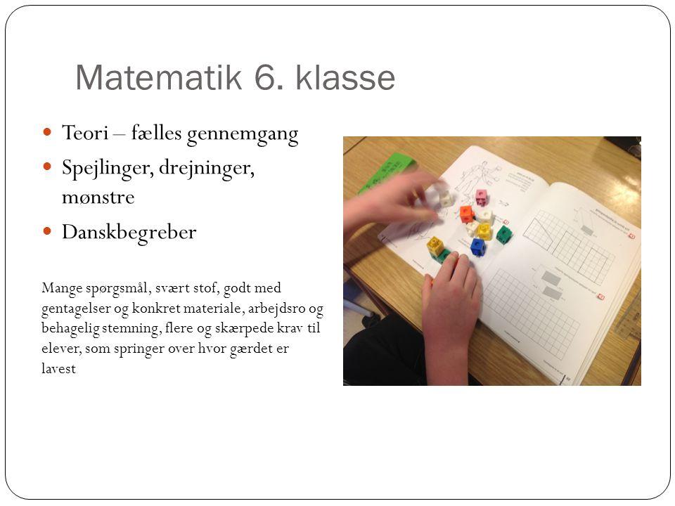Matematik 6. klasse Teori – fælles gennemgang