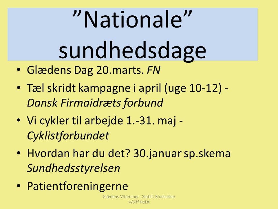 Nationale sundhedsdage