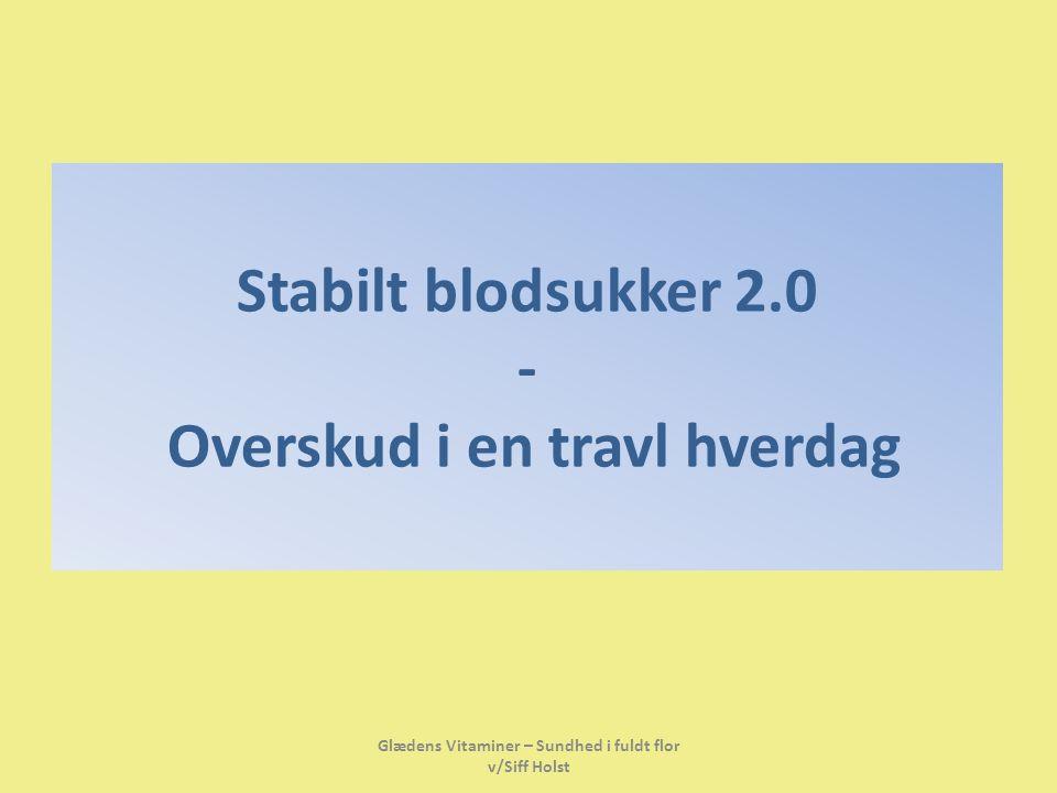 Stabilt blodsukker 2.0 - Overskud i en travl hverdag
