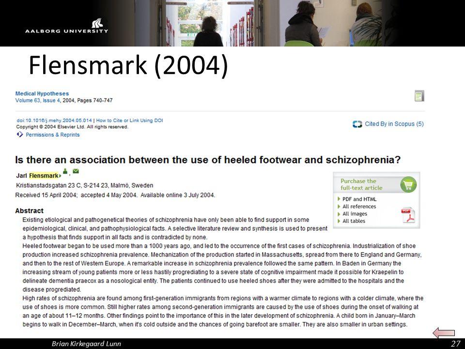 Flensmark (2004) Brian Kirkegaard Lunn