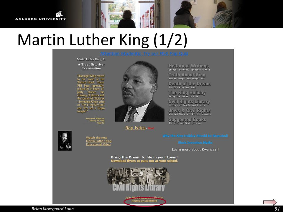 Martin Luther King (1/2) Brian Kirkegaard Lunn