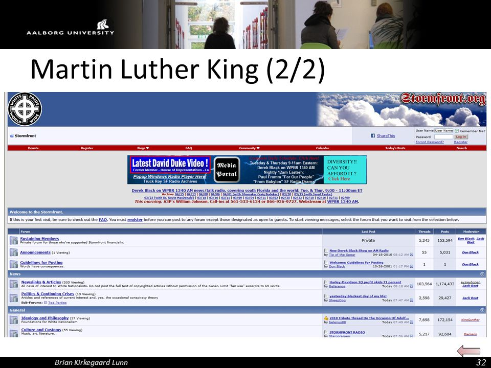Martin Luther King (2/2) Brian Kirkegaard Lunn