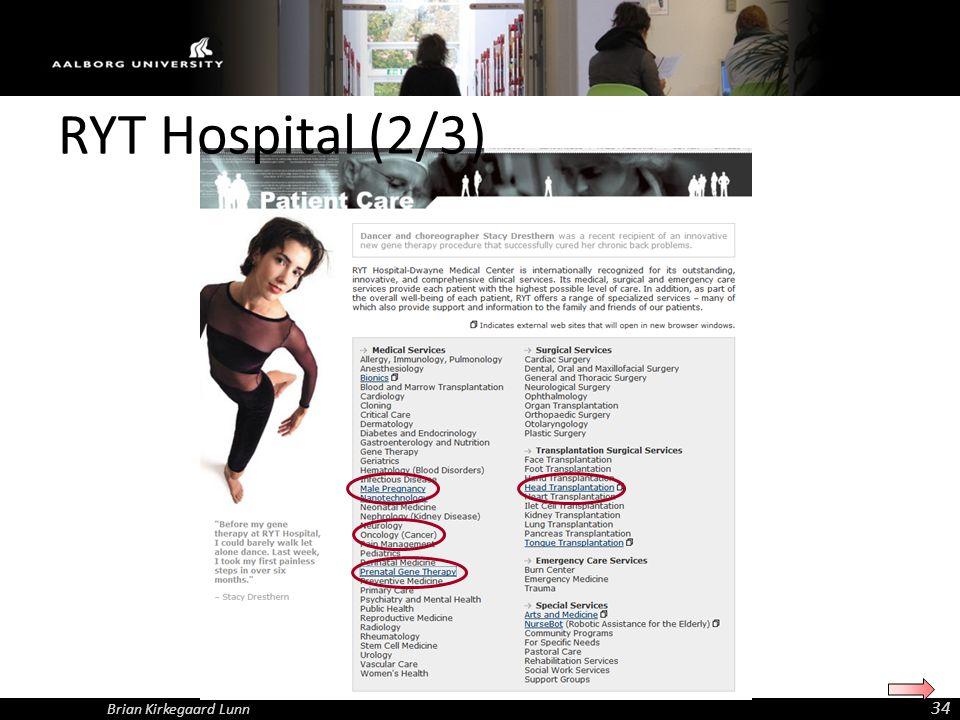 RYT Hospital (2/3) Brian Kirkegaard Lunn