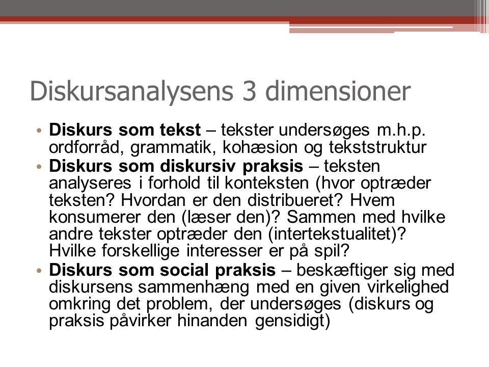 Diskursanalysens 3 dimensioner