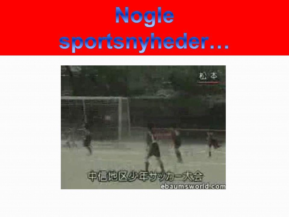 Nogle sportsnyheder…