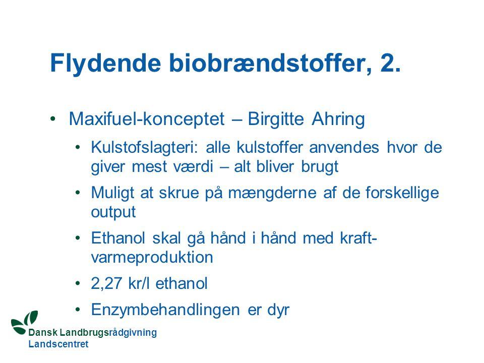 Flydende biobrændstoffer, 2.